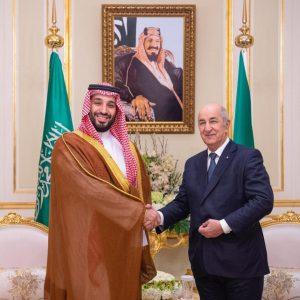 سمو ولي العهد السعودي يعزي الرئيس الجزائري في ضحايا الفيضانات التي شهدتها عدة ولايات جزائرية نتيجة الأمطار الغزيرة